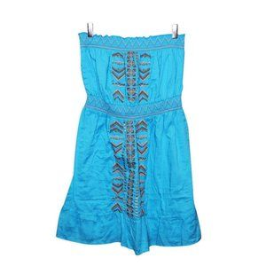 Le Chateau - Strapless Embroidered Dress Sz XL